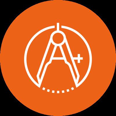precise icon—caliper or compass